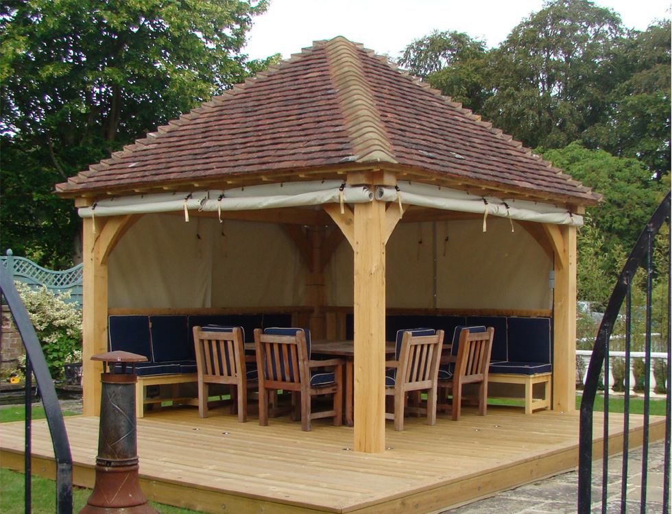 oak gazebos amp pavilions cellars trap doors board walks jetties